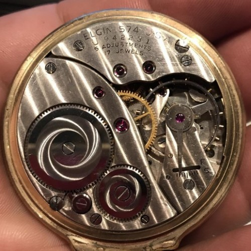 Elgin Grade 574 Pocket Watch Image