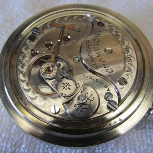 Columbus Watch Co. Grade Champion Pocket Watch Image
