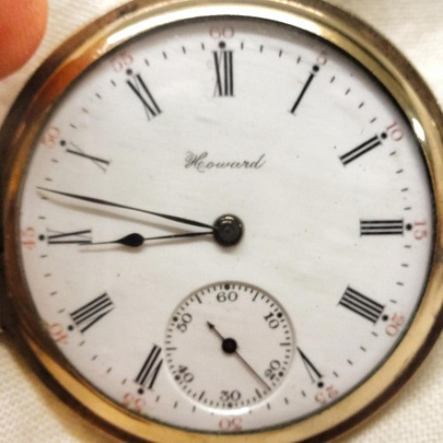 Image of E. Howard Watch Co. (Keystone) Series 3 #891213 Dial