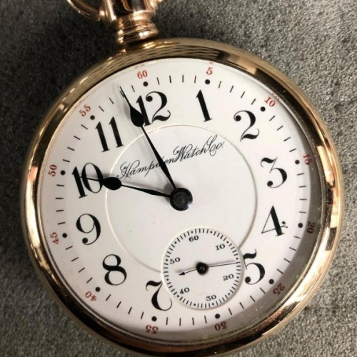 Hampden Grade North American Railway Pocket Watch Image