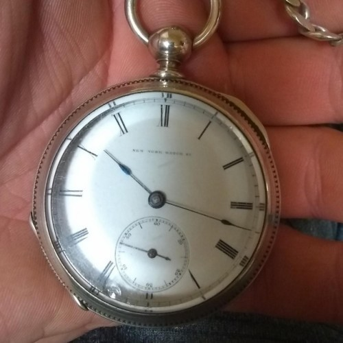 New York Watch Co. Grade Chester Woolworth Pocket Watch Image