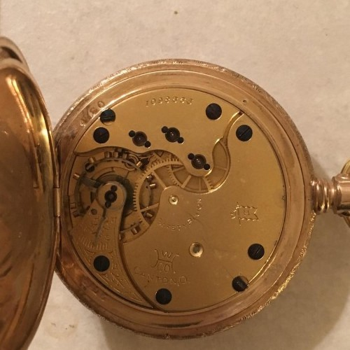 Hampden Grade Champion H (in flag) Pocket Watch Image