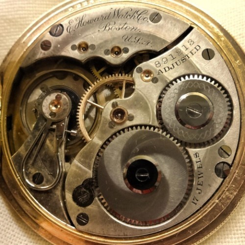 Image of E. Howard Watch Co. (Keystone) Series 3 #891213 Movement