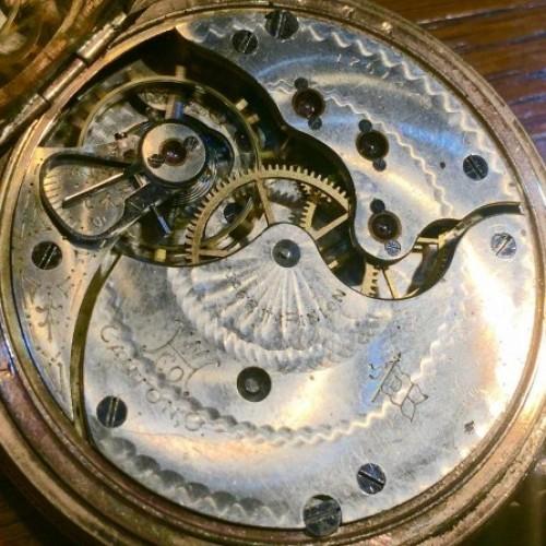 Hampden Grade No. 109 D (in split flag) Pocket Watch Image