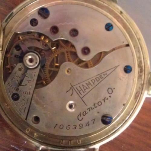 Hampden Grade No. 400AAA Hampden (in banner) Pocket Watch Image