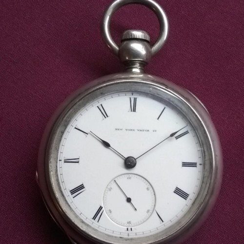 New York Springfield Watch Co. Grade Fredk Billings Pocket Watch Image