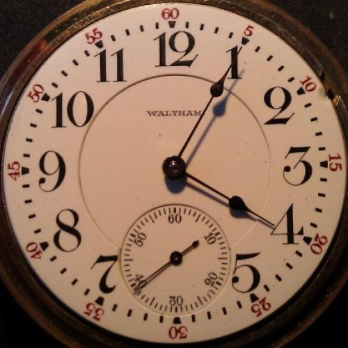 Waltham Grade No. 845 Pocket Watch Image