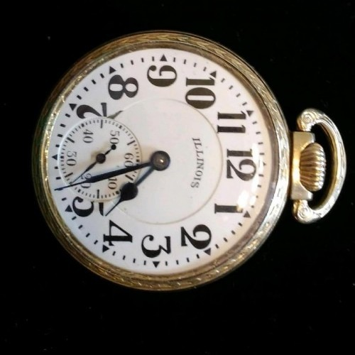 Illinois Grade A. Lincoln Pocket Watch Image