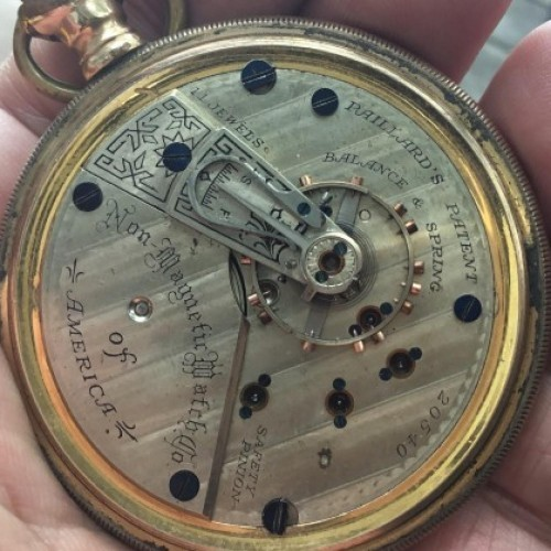 Image of Non-Magnetic Watch Co. PAILLARD'S PATENT #20540 Movement