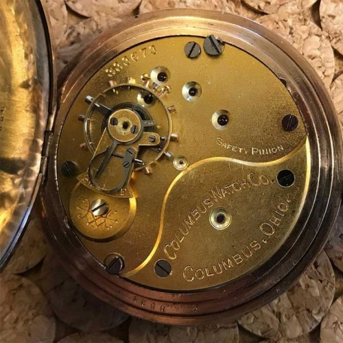 Columbus Watch Co. Grade 34 Pocket Watch Image