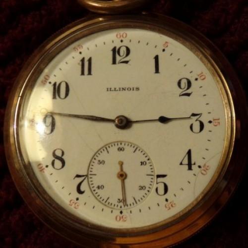 Illinois Grade 219 Pocket Watch Image