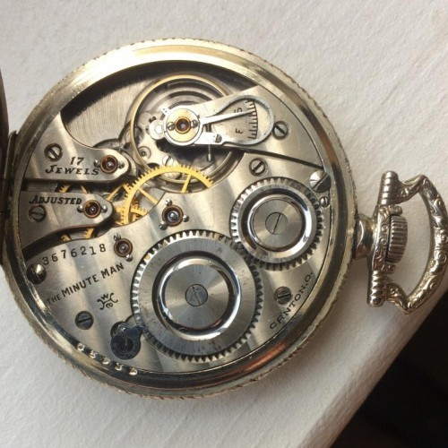Hampden Grade The Minute Man Pocket Watch Image
