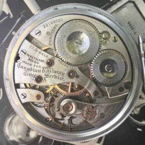Waltham Grade Canadian Railway Time Service Pocket Watch Image