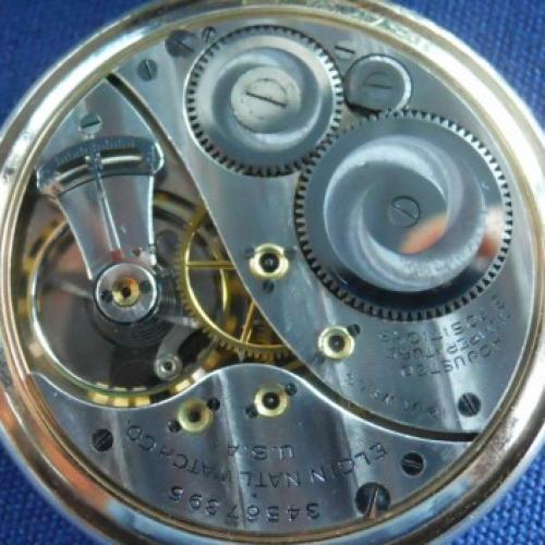 Elgin Grade 491 Pocket Watch Image