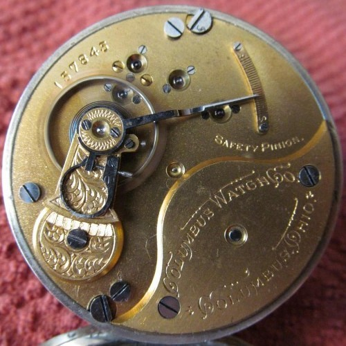 Columbus Watch Co. Grade 93 Pocket Watch Image