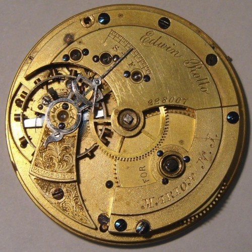 Image of U.S. Watch Co. (Marion, NJ) Edwin Rollo #228007 Movement