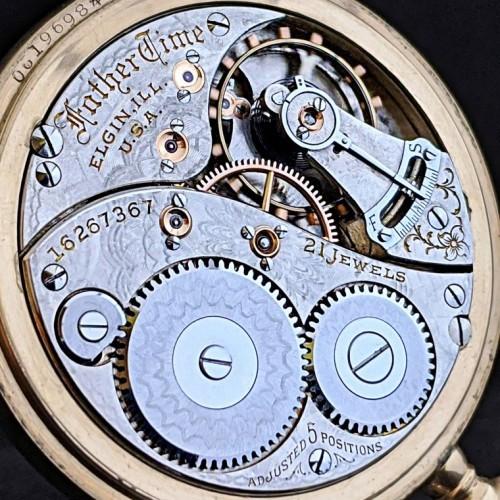 Elgin Grade 389 Pocket Watch Image