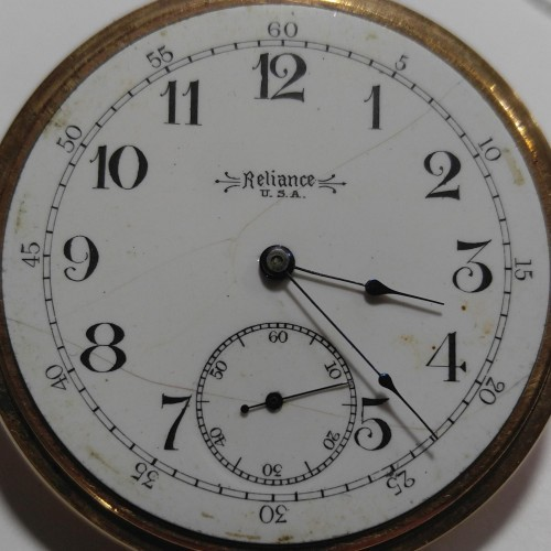 Trenton Watch Co. Grade Reliance Pocket Watch Image
