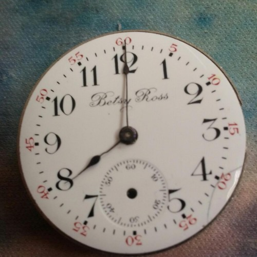 Image of U.S. Watch Co. (Waltham, Mass) Betsy Ross #881702 Movement