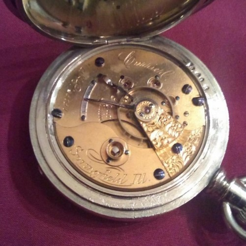 Illinois Grade Currier Pocket Watch Image