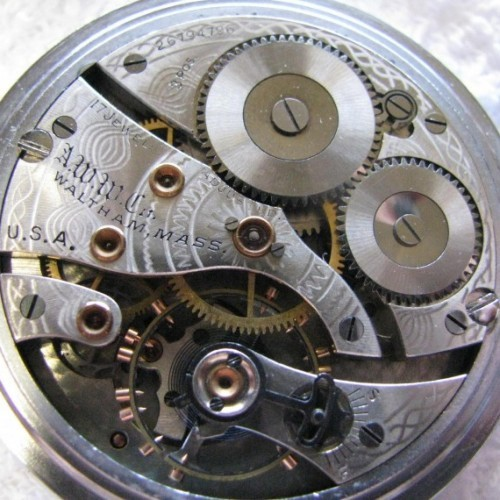 Waltham Grade Oval Wristwatch Pocket Watch Image