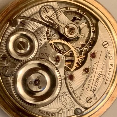 Illinois Grade 163A Pocket Watch Image