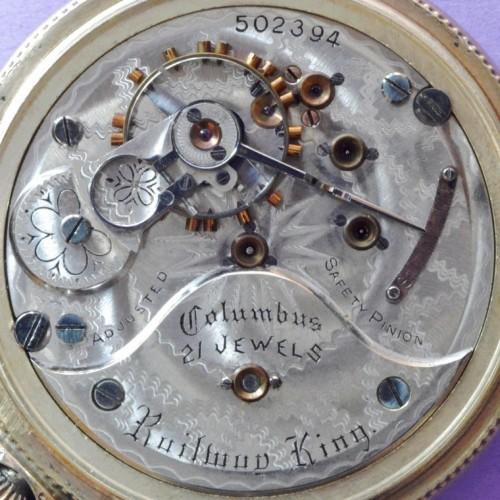 Columbus Watch Co. Grade Columbus King Pocket Watch Image
