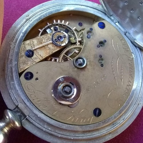 New York Watch Co. Grade John L. King Pocket Watch Image