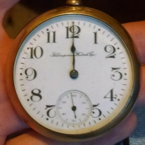 Hampden Grade Champion H (in flag) Pocket Watch Image