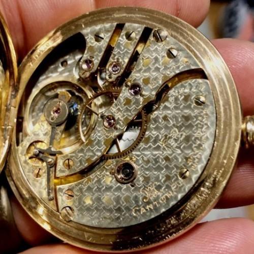 Hampden Grade No. 104 SR (in flag) Pocket Watch Image