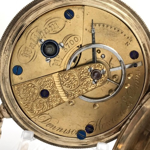 Waltham Grade Dennison Howard & Davis Pocket Watch Image