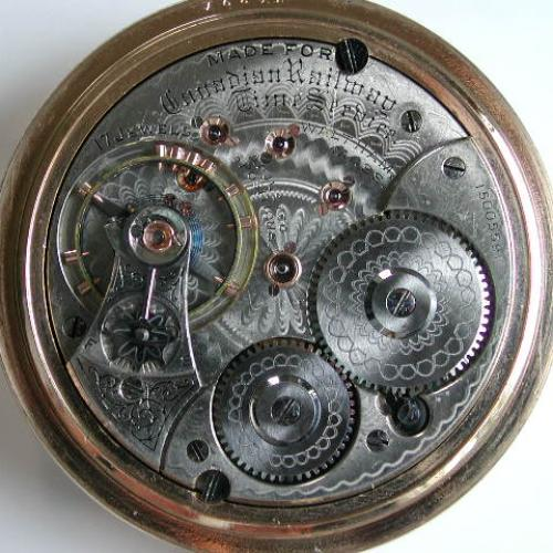 Waltham Grade Canadian Railway Time Service Pocket Watch Image