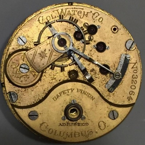 Image of Columbus Watch Co. Unknown #32064 Movement