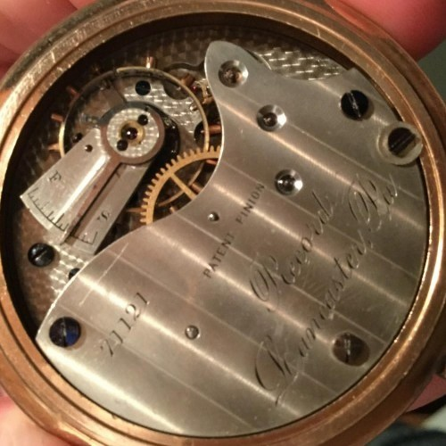 Lancaster Watch Co. Grade Record Pocket Watch Image