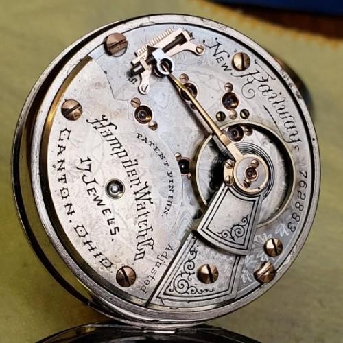 Hampden Grade New Railway Pocket Watch Image