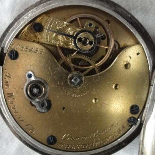 Waltham Grade Crescent Garden Pocket Watch Image
