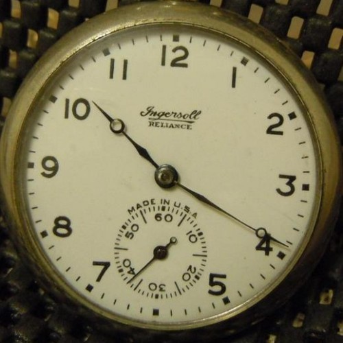 Ingersoll Watch Co. Grade Reliance Pocket Watch Image