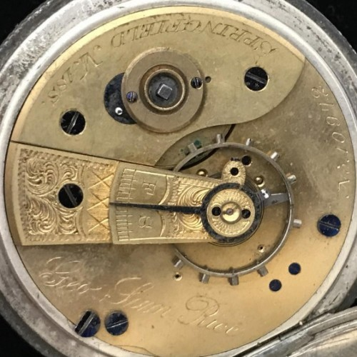 New York Watch Co. Grade Geo Sam Rice Pocket Watch Image