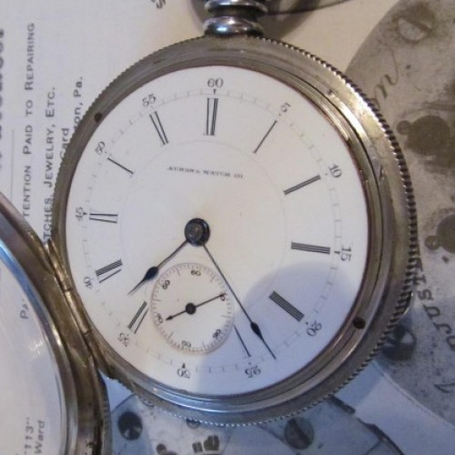 Aurora Watch Co. Grade 14 Pocket Watch Image