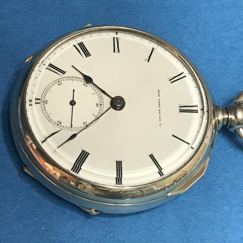 New York Springfield Watch Co. Grade Chester Woolworth Pocket Watch Image