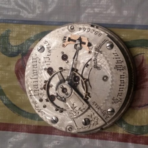 Hampden Grade New Railway Pocket Watch Image