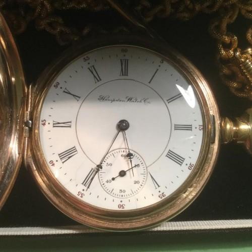 Hampden Grade No. 106 Anchor D (in flag) Pocket Watch Image
