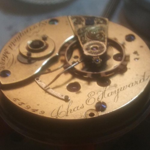 Hampden Grade Woolworth Pocket Watch Image