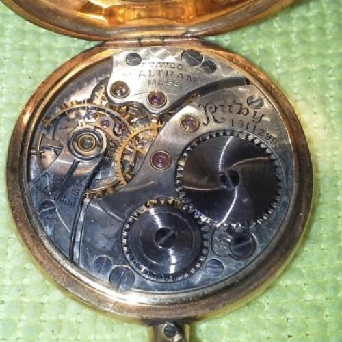 Waltham Grade Ruby Pocket Watch Image