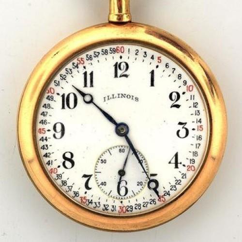 Illinois Grade 410 Pocket Watch Image