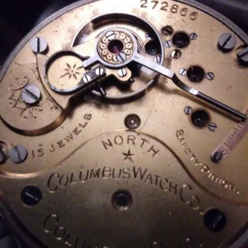 Columbus Watch Co. Grade North Star Pocket Watch Image