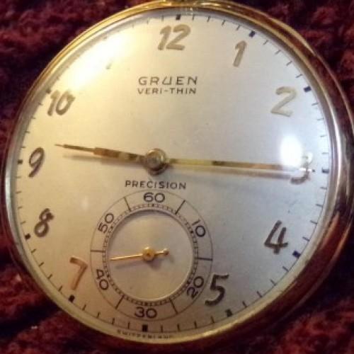 Gruen Watch Co. Grade Verithin Precision Pocket Watch Image