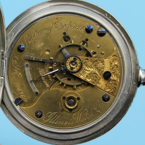 Illinois Grade Currier Pocket Watch Image