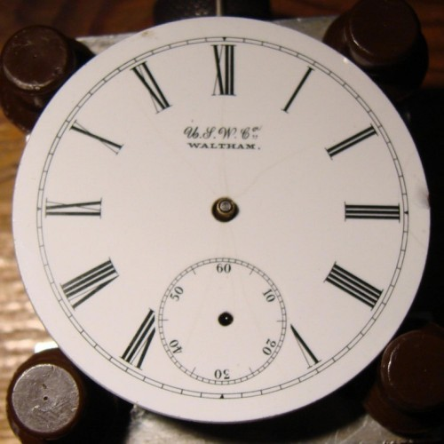 Image of U.S. Watch Co. (Waltham, Mass)  #927 Dial