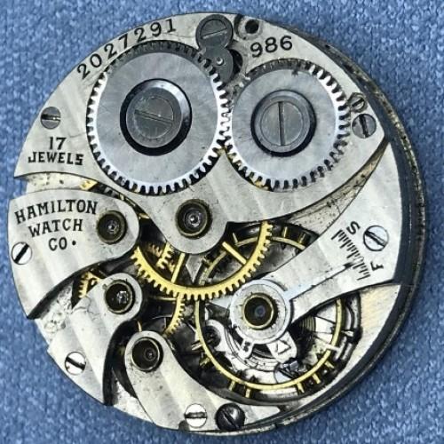 Hamilton Grade 986 Pocket Watch Image